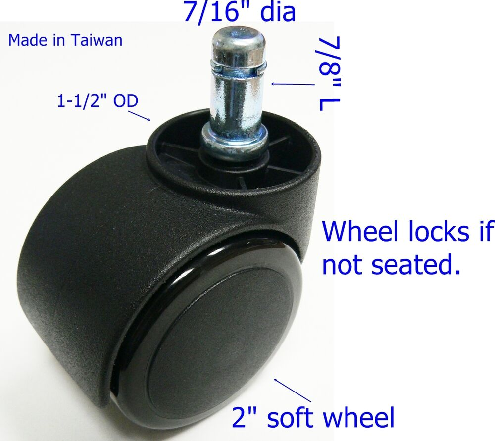 oajen 2 soft wheel chair caster hardwood floor auto
