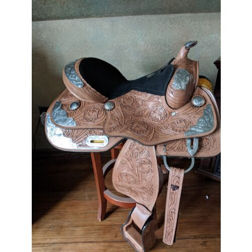12-inch-youth-western-show-saddle-light-oil-leather-loaded-with-silver-