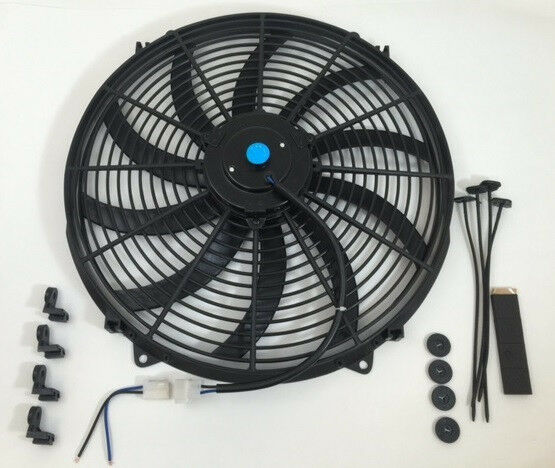 High Cfm 12v Cooling Fans : Quot electric fan curved blades s radiator cooling