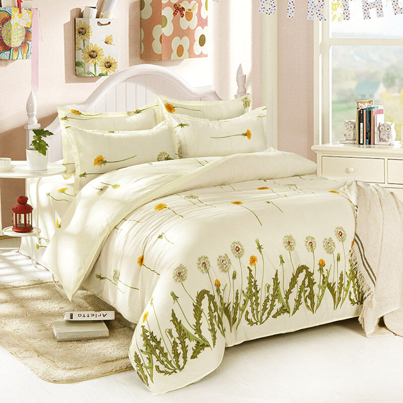 Taraxacum Single Double Queen King Size Bed Set