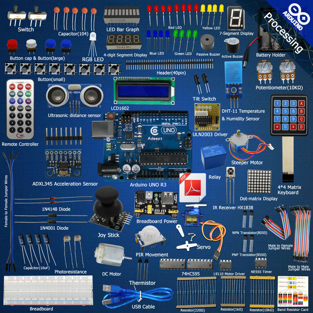 Adeept ultimate starter learning kit for arduino uno r