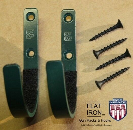 Flatiron Wall Mount Gun Rack Hooks Shotgun Bow Rifle