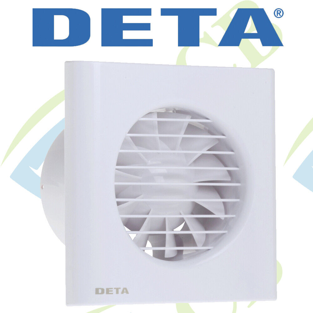 "DETA 4601 4"" BATHROOM FAN With TIMER 100mm Toilet Shower WALL Ceiling Extractor"