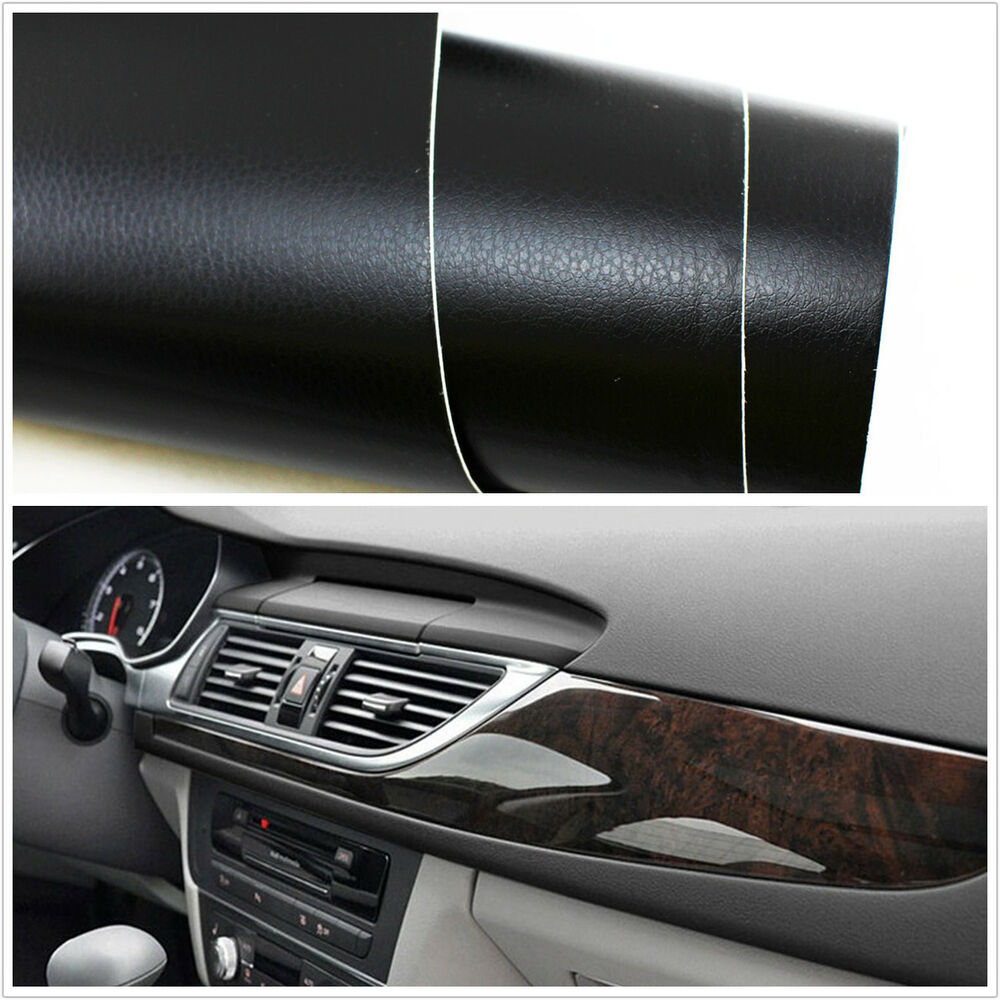 Diy 3d leather texture auto car interior dashboard trim film vinyl sheet sticker ebay for Vinyl wrapping interior trim