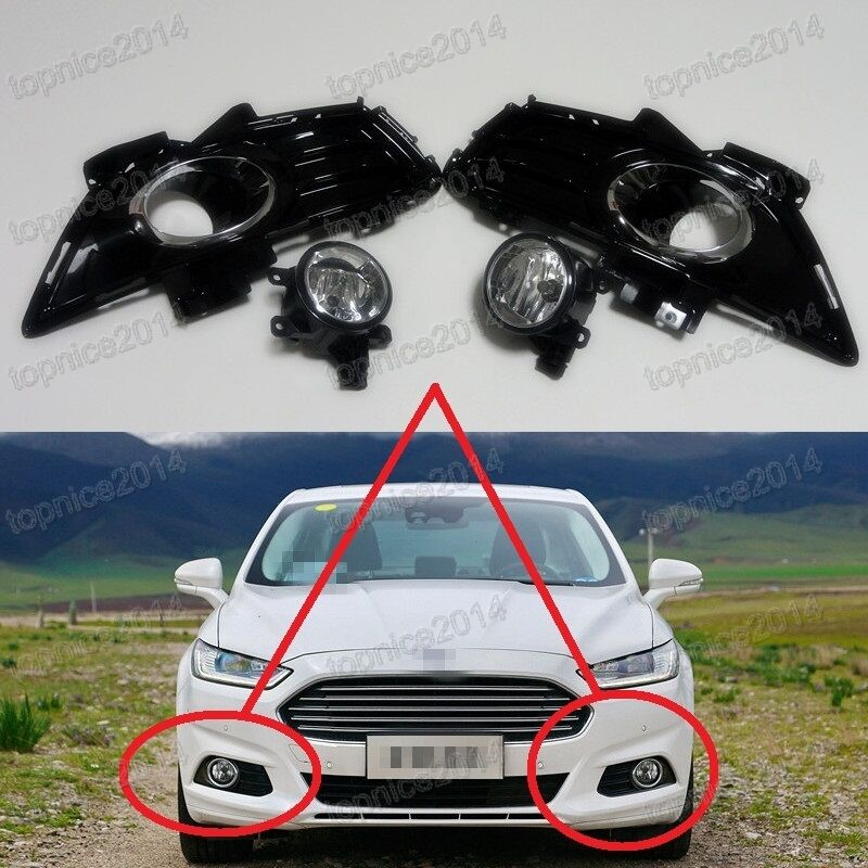 Clear Fog Driving Lights Lamps W Covers Kits For Ford