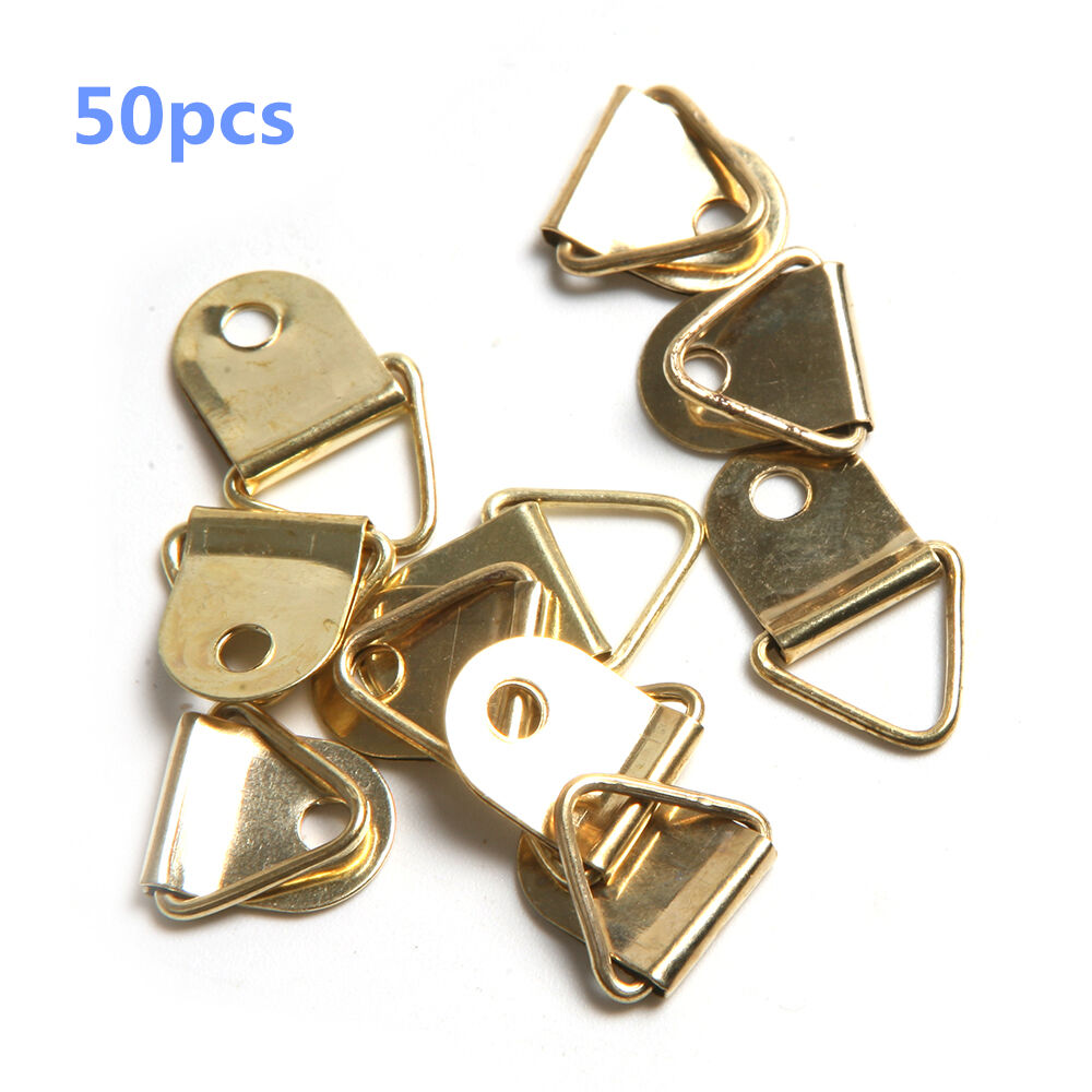 50pcs small triangle mirror hangers strap d ring hanging for Mirror hangers