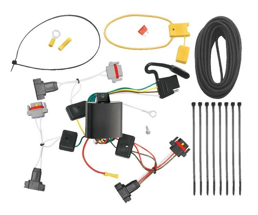 Rectangle Trailer Wiring Harness Chrysler Just Wirings Diagram Radio Connectors 2001 2010 Pt Cruiser Hitch Kit