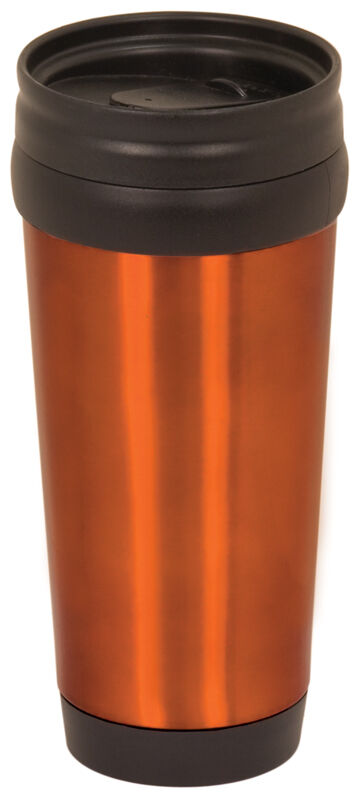 orange stainless steel travel mug thermos coffee tea drink travel cup ebay. Black Bedroom Furniture Sets. Home Design Ideas