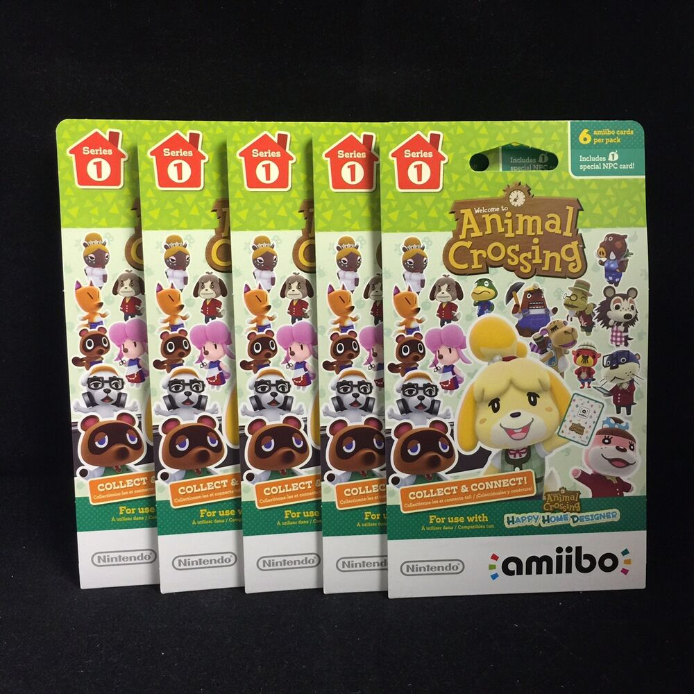 Animal crossing happy home designer amiibo card 5 pack 6 - Happy home designer amiibo figures ...