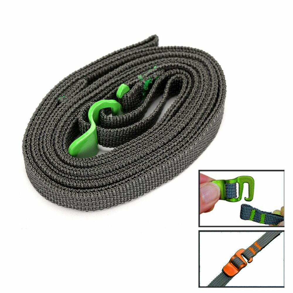 Outdoor Travel Strapping Cord Tape Rope Tied Pull Luggage Belt with Hook