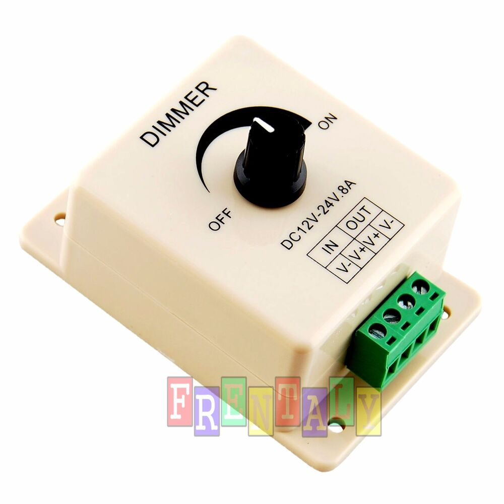 dc 12v 24v 8a led switch dimmer pmw cotroller for 3528. Black Bedroom Furniture Sets. Home Design Ideas