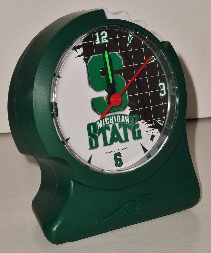 Ergonomic Alarm Clock By Sun Time Michigan State Alarm