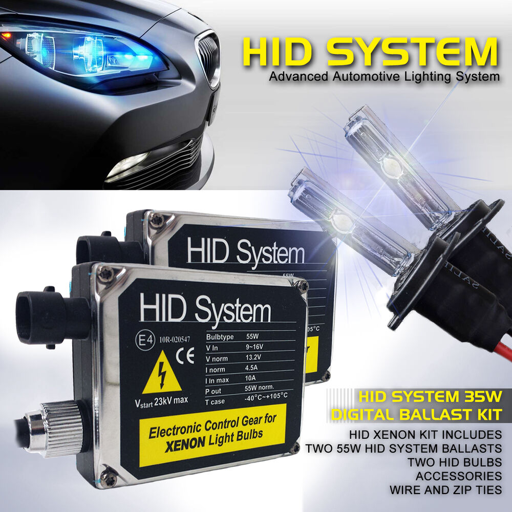 ge 55w hid light kit xenon conversion system h4 h7 h10 h11. Black Bedroom Furniture Sets. Home Design Ideas