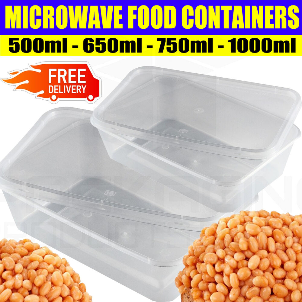 Microwave Food Container ~ Food containers plastic takeaway microwave freezer safe