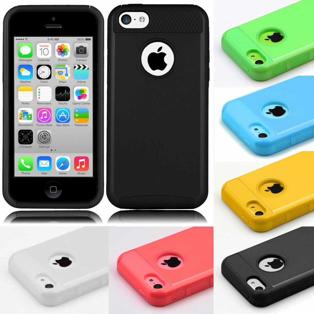 iphone 5 c cases hybrid shockproof ultra slim rugged rubber cover 14486
