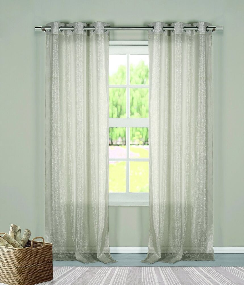 Image Result For Sheer Gray Curtains Ebay