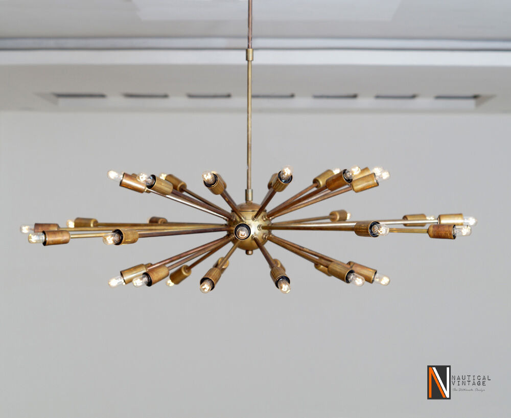 36 Lights Arms Mid Century Sputnik Chandelier Starburst
