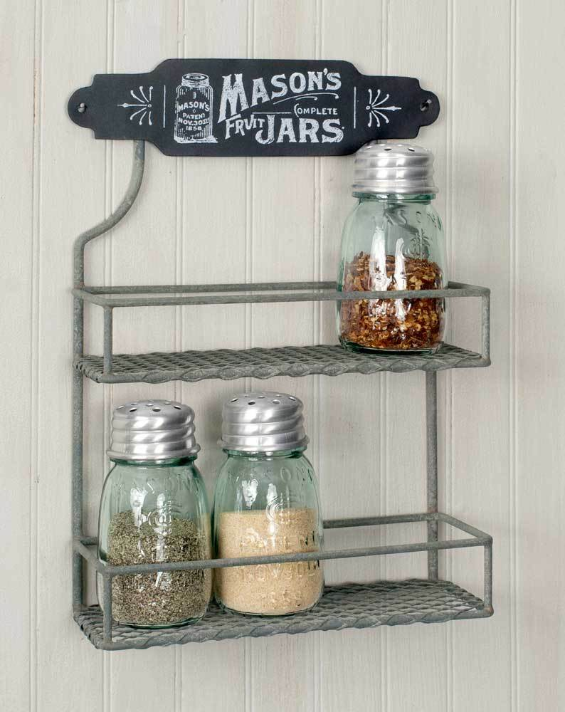 Vintage Shabby Chic Rustic Chicken Wire Wall Mount Grey