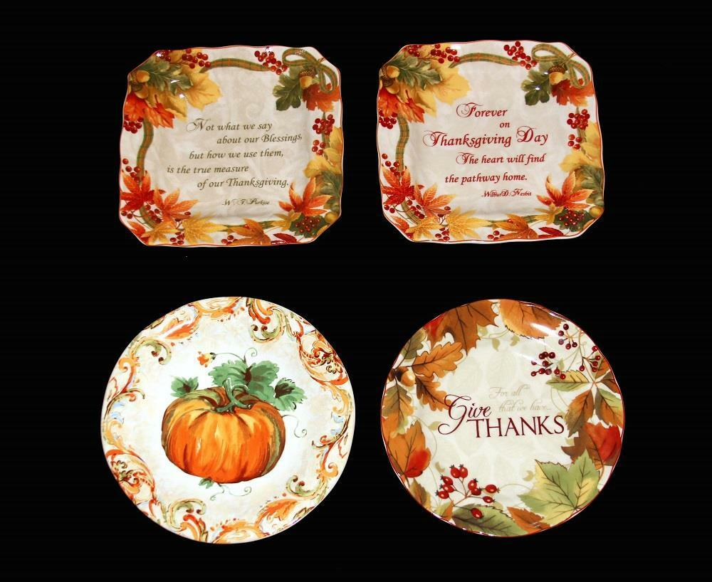 4 222 Autumn Thanksgiving Fall Square Or Round Salad