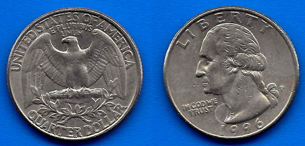 What Is My Paypal Email >> USA 25 Cents 1996 Quarter Dollar Washington Cent United States America Paypal   eBay