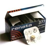 Renata Swiss Made Cell Battery 377 SR626SW AG4 SR66 Watch Trendy 1.55v x 10