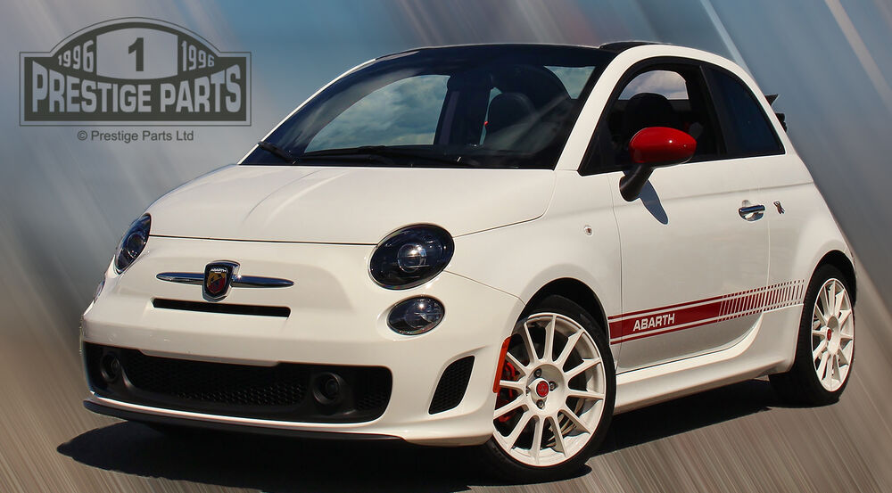 fiat 500 abarth side stripes correct size shape genuine quality vinyl decals ebay. Black Bedroom Furniture Sets. Home Design Ideas