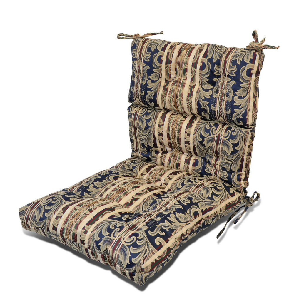 Outdoor Patio Garden Dining Back Chair Seat Cushion 3