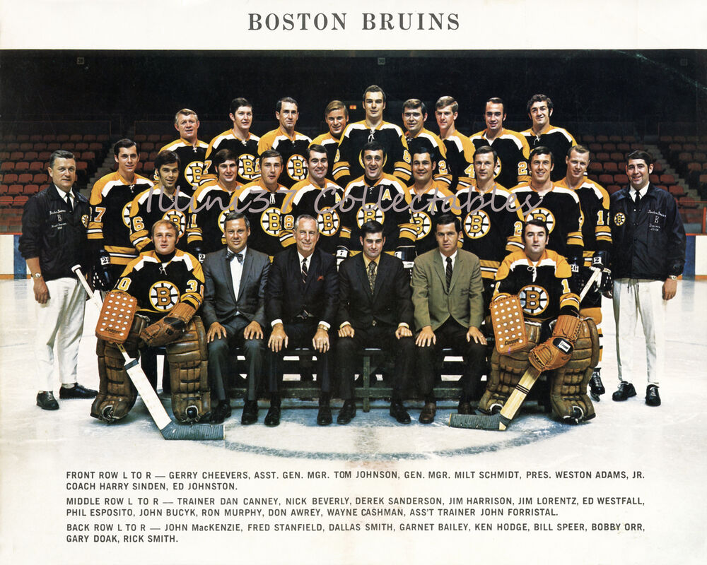 1969-70 BOSTON BRUINS STANLEY CUP CHAMPIONS 8X10 TEAM ...