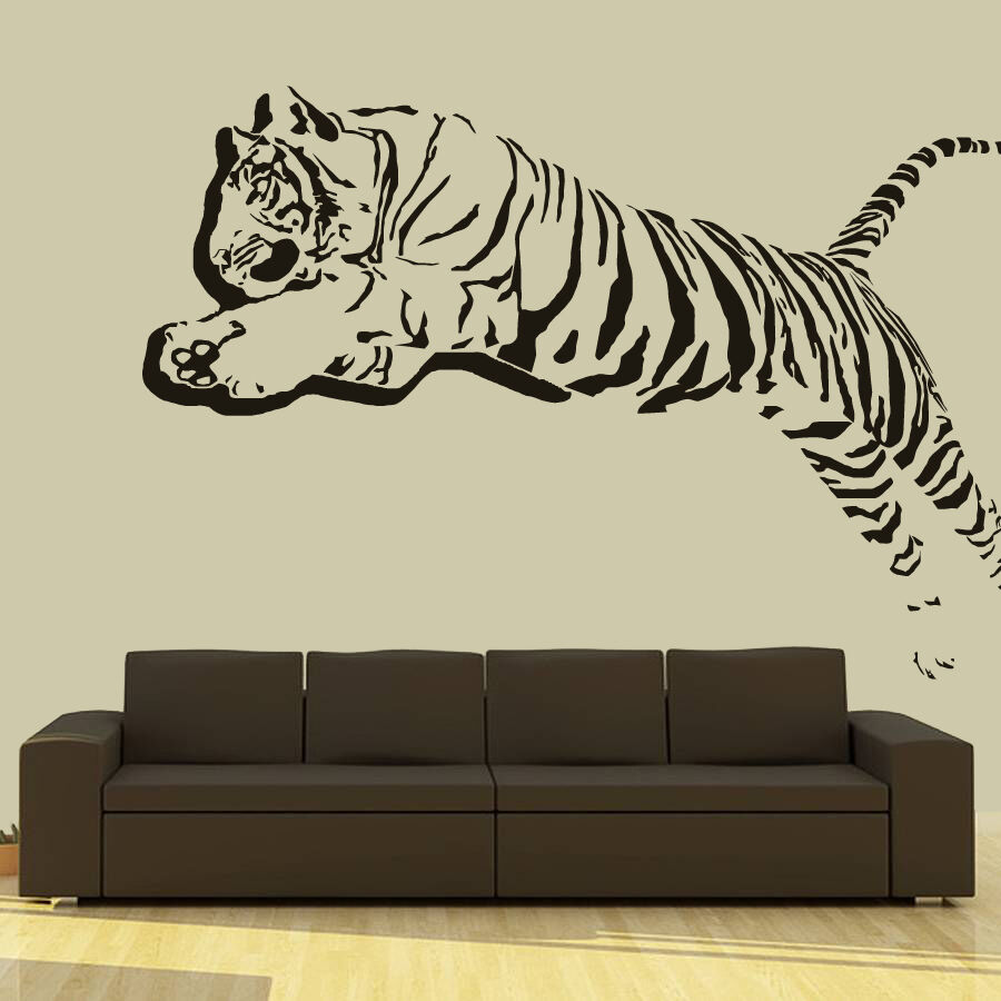 wall decal vinyl sticker 3d tiger lion leopard panter