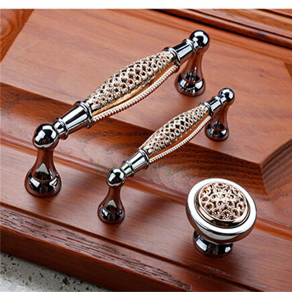 Modern Kitchen Cabinet Door Handles Stainless Steel Drawer Pulls Knobs