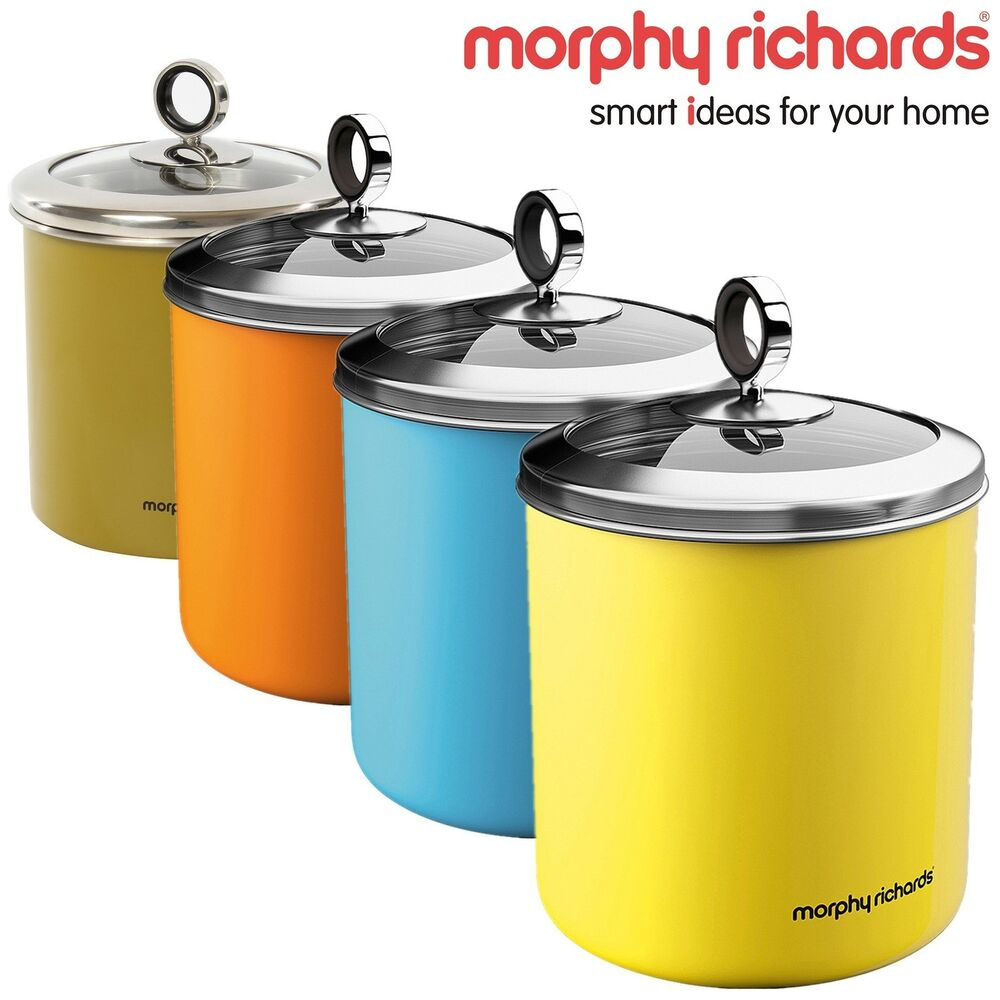 yellow kitchen storage jars morphy richard large tea sugar coffee food storage kitchen 1694