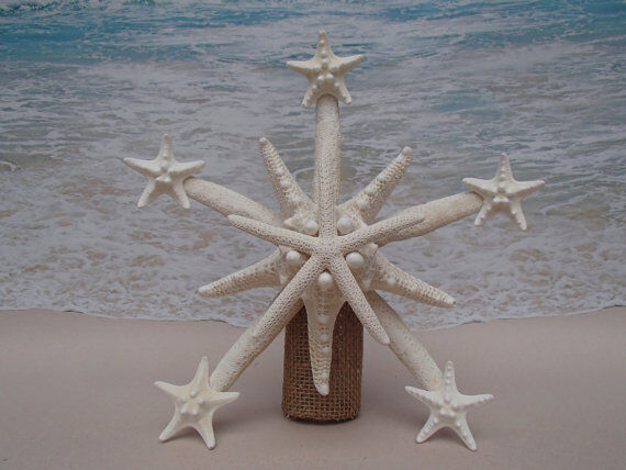 SALE Starfish Tree Topper- Natural, Gold Or Silver- Beach
