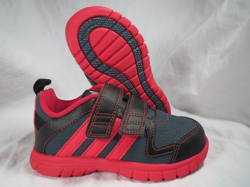 ADIDAS STA FLUID 3 CF I BLACK/RED BABY/TODDLER BOYS/GIRLS ...