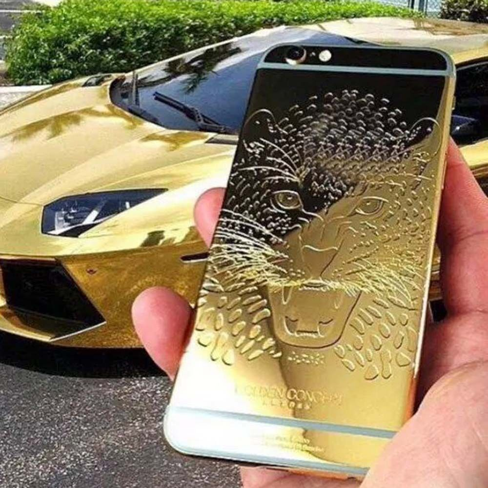 gold iphone 6s for iphone 6 6s plus limited 24k gold plated back housing 2105