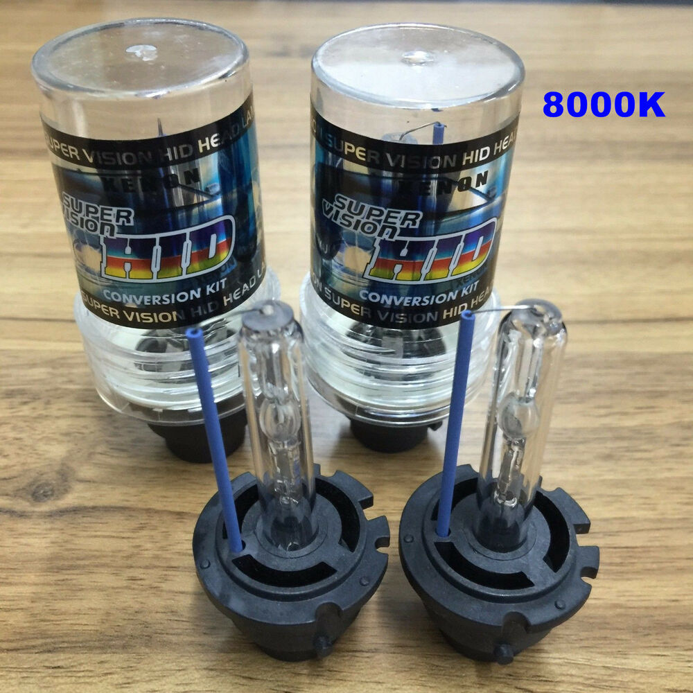 New 8000k D2s D2r D2c Hid Xenon Bulbs Replace Factory Hid