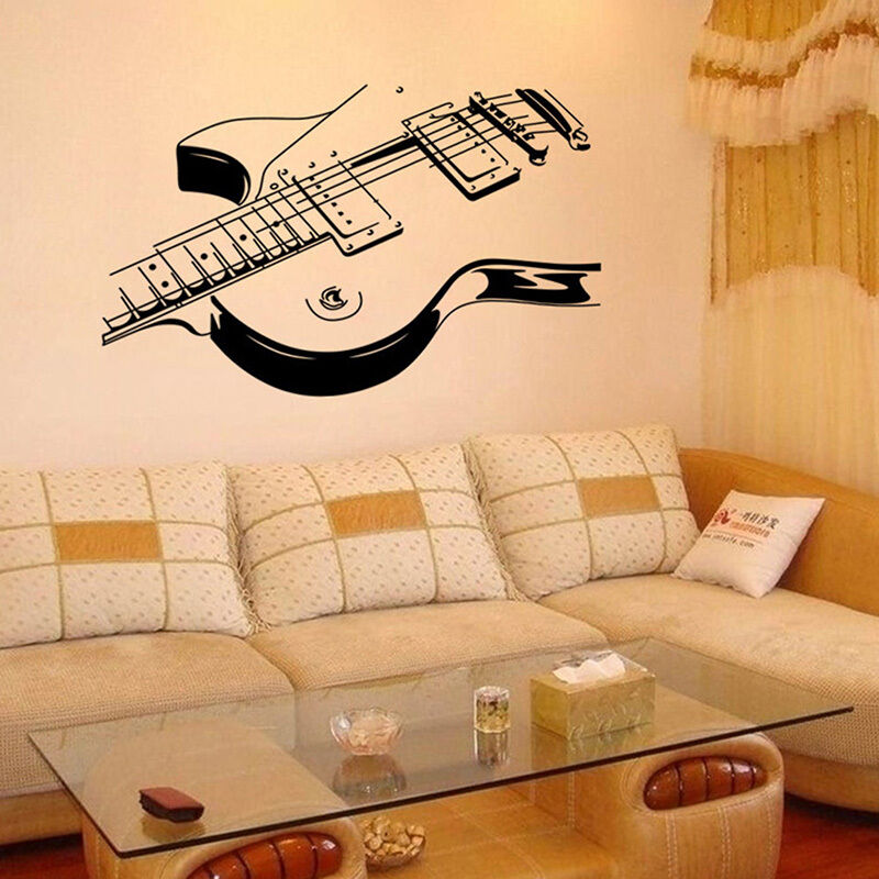 Guitar Music Removable Vinyl Decal Wall Sticker Mural Room