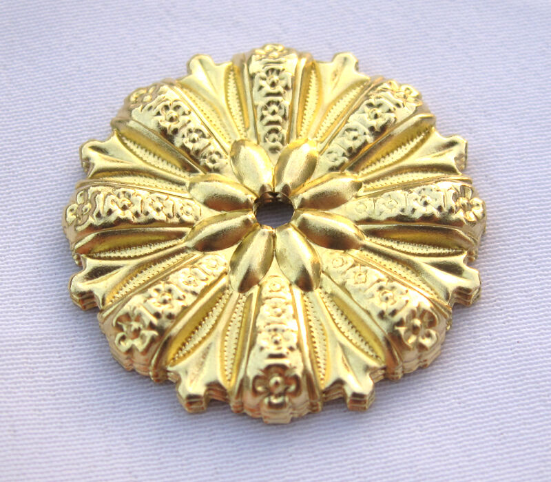 flower filigree brass findings for jewelry making bf209