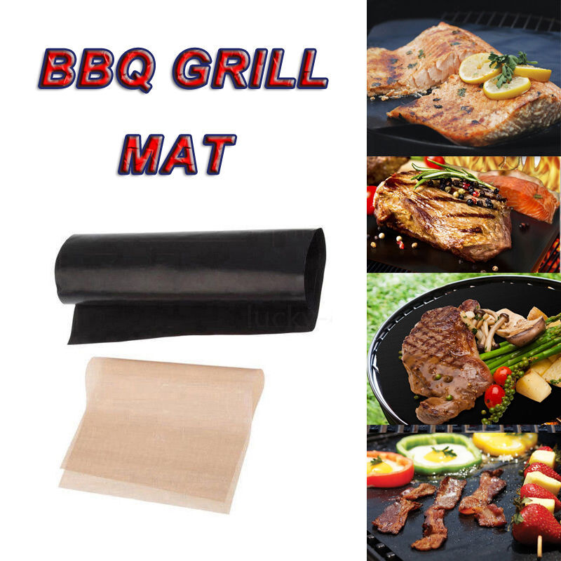 2pcs BBQ GRILL MATS Sheet As Seen On TV Oven Baking