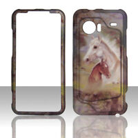 Racing Horses HTC Droid Incredible 6300 Verizon Case Cover Hard Snap on Cases