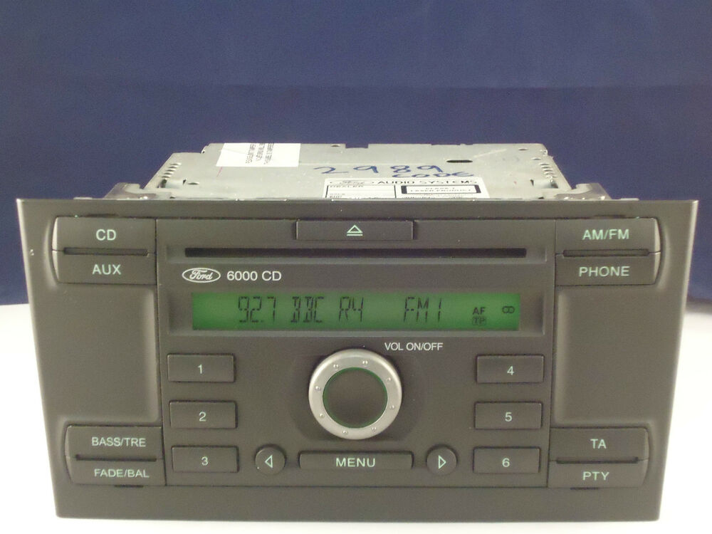 ford mondeo mk3 radio 6000 cd player stereo security code. Black Bedroom Furniture Sets. Home Design Ideas