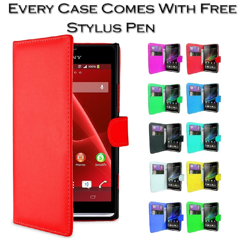 Sony Xperia Neo L Side Flip Cover Magnetic Leather Side ...