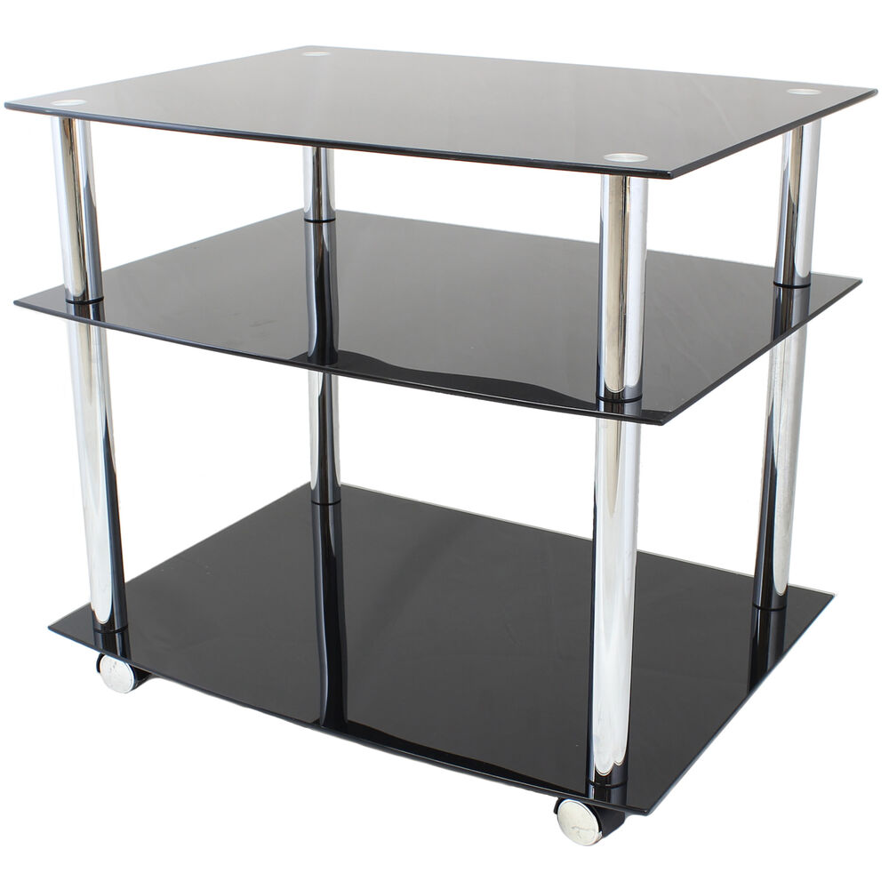 Shelf Glass Trolley Ebay