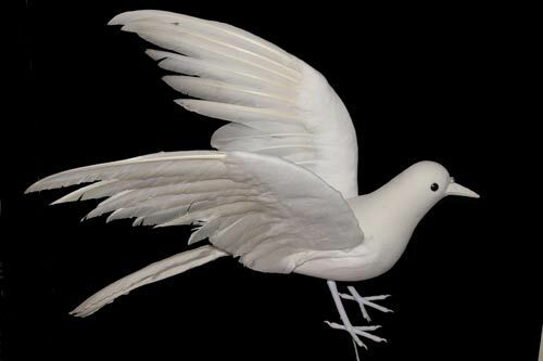 Artificial Feather Dove Christmas Decoration Tree Fake