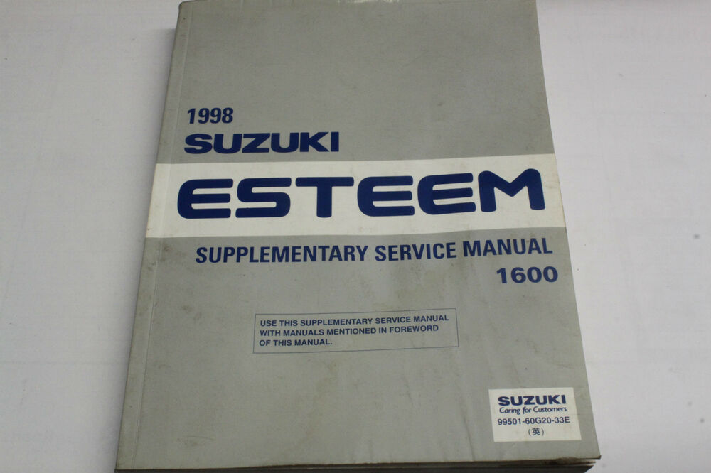 1998 Suzuki Esteem Supplementary Service Manual