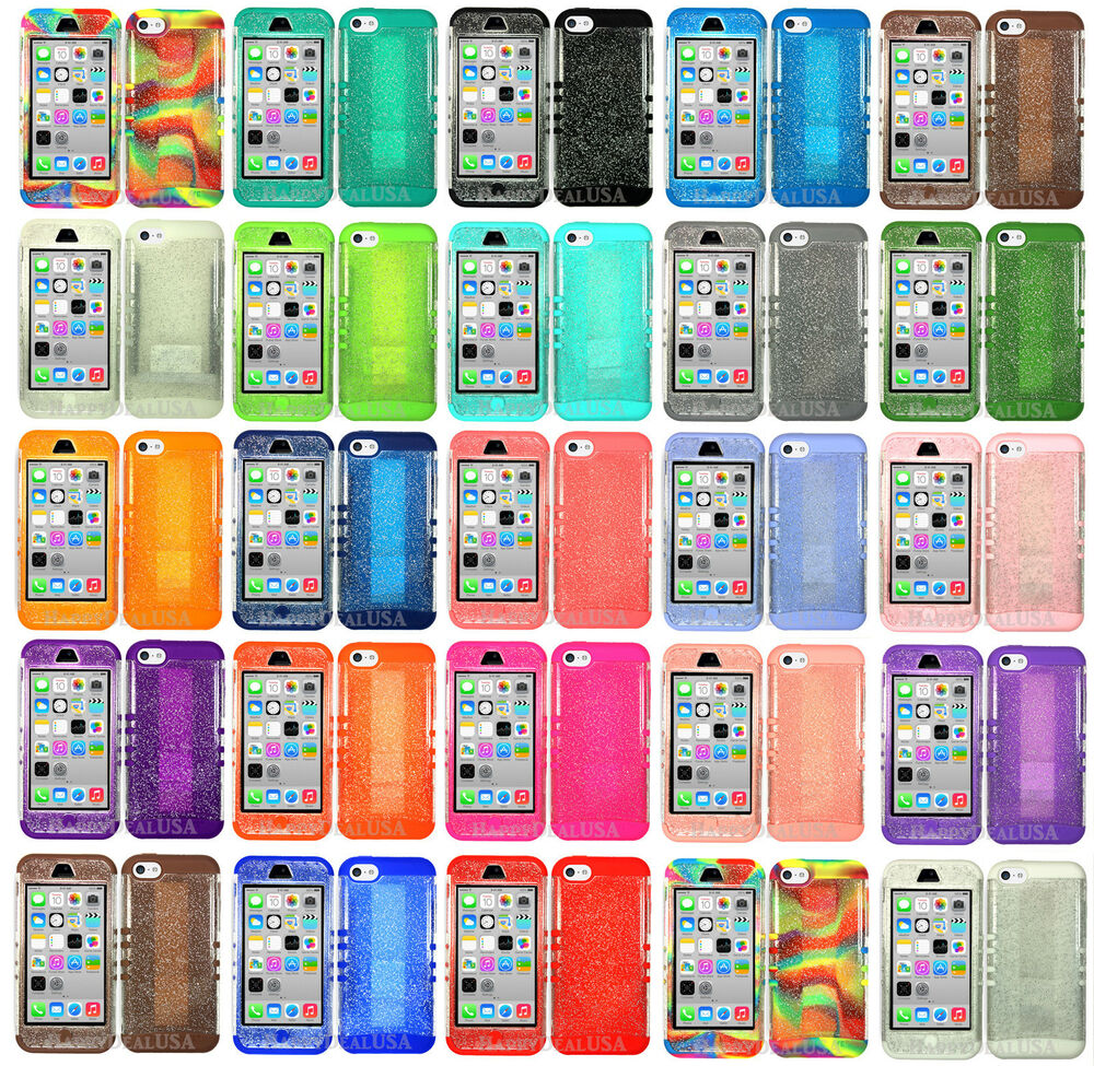 iphone 5c apple case glitter koolkase armor hybrid silicone cover for 6580