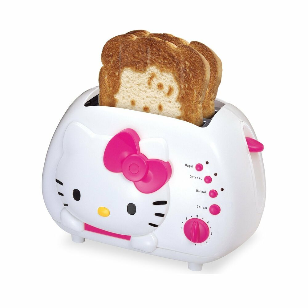 Toast In Toaster ~ New hello kitty slice wide slot bread toaster with