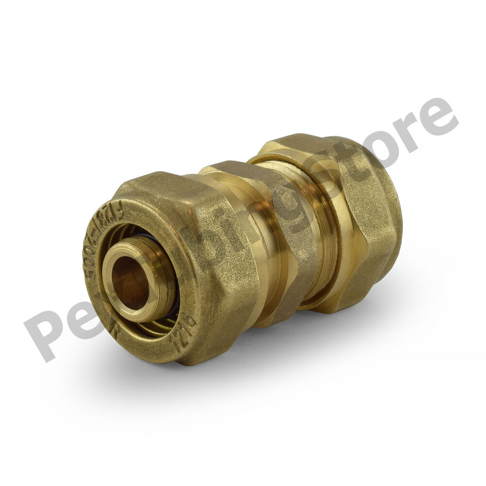 Quot pex al compression brass coupling fitting ebay
