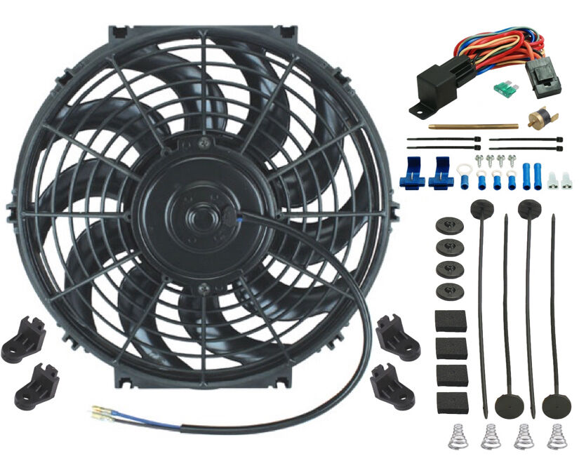 12 inch electric cooling fan 12 volt push in radiator fin for 12 volt electric fan motor