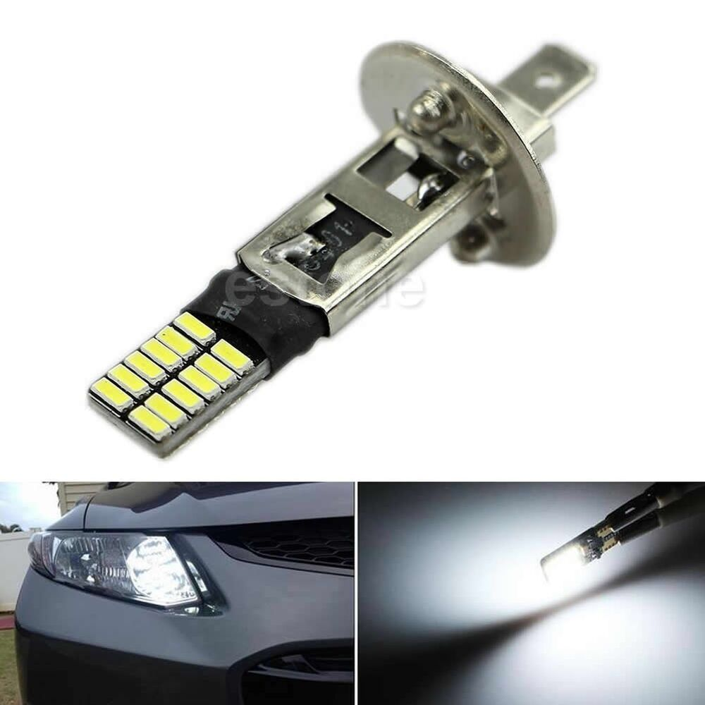 Lighting Basement Washroom Stairs: 6500K HID Xenon White 24-SMD H1 LED Replacement Bulbs For