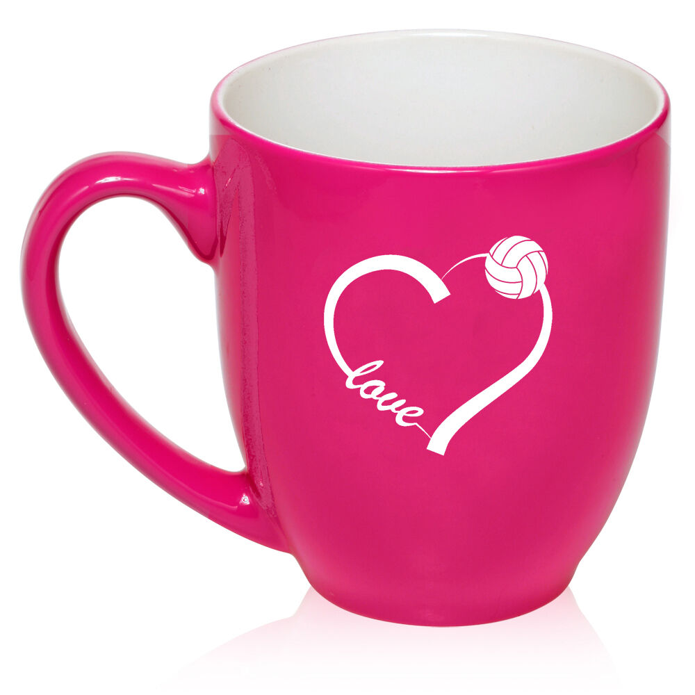 16oz Bistro Mug Ceramic Coffee Tea Glass Cup Love Heart